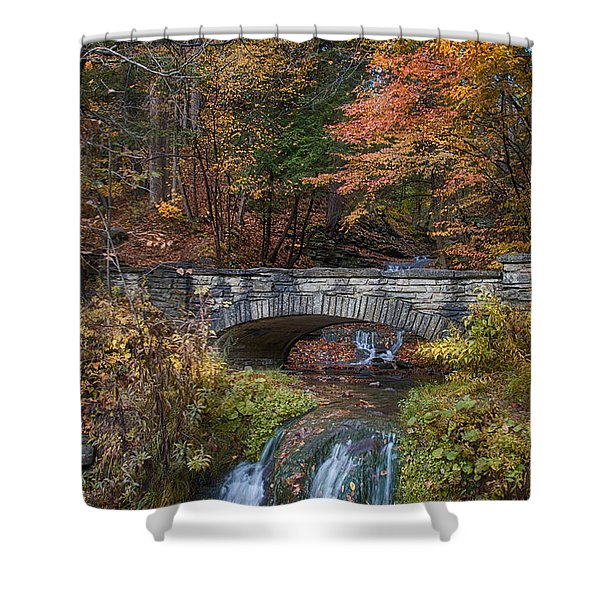 The Stone Bridge Shower Curtain