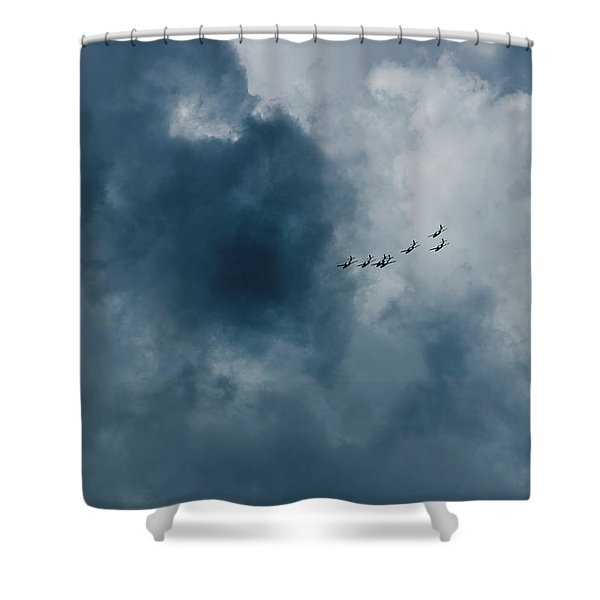 The Storm And Aircrafts Shower Curtain
