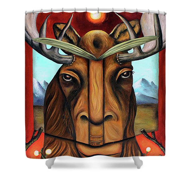 The Story Of Moose Shower Curtain