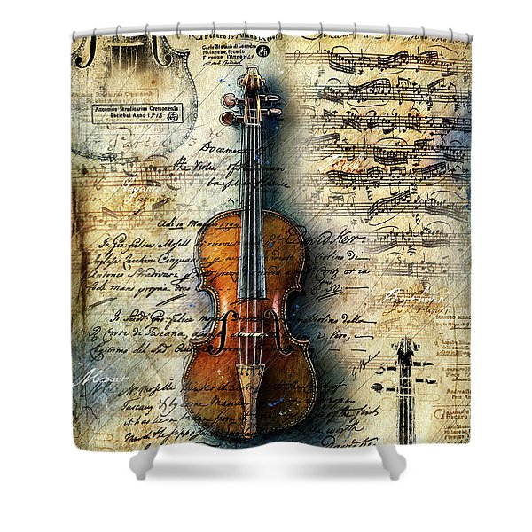 The Stradivarius Shower Curtain