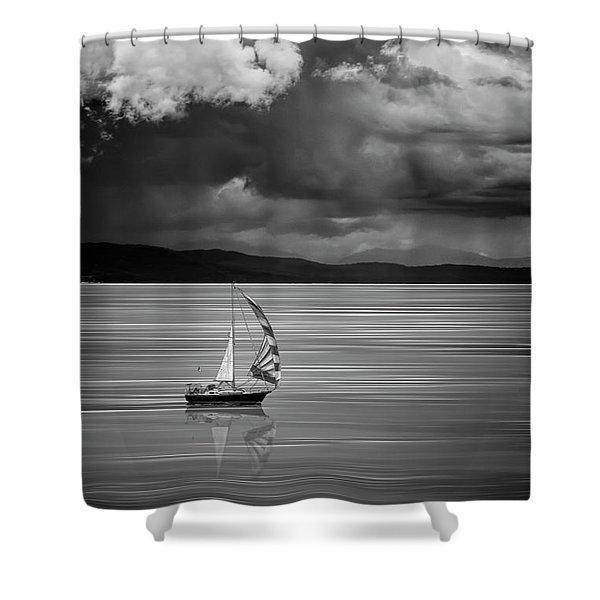 The Strait Of Georgia Shower Curtain