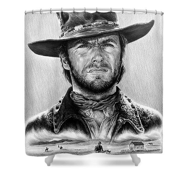 The Stranger Bw 1 Version Shower Curtain