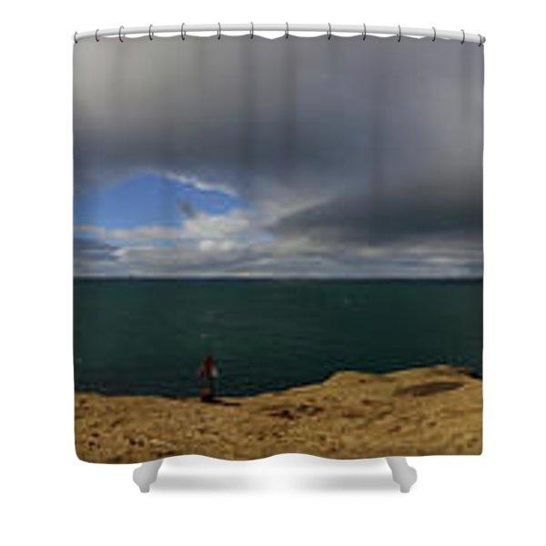 The Stykkisholmur Lighthouse Shower Curtain
