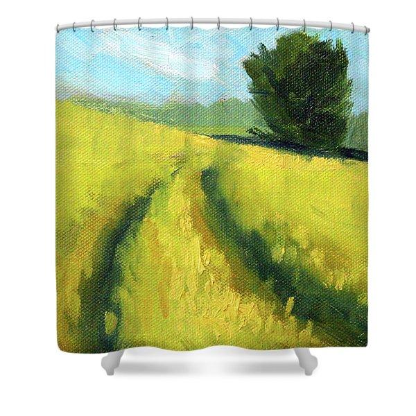 The Summer Field Shower Curtain