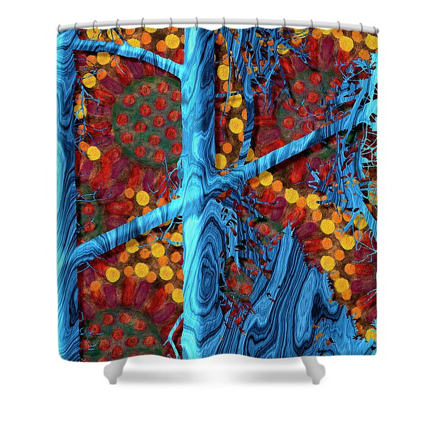 The Summer We Went To Blue Tree Shower Curtain