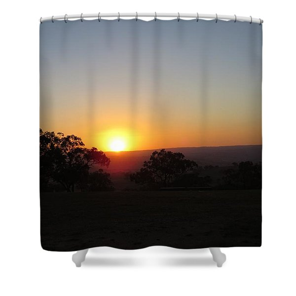The Sun Dips Shower Curtain