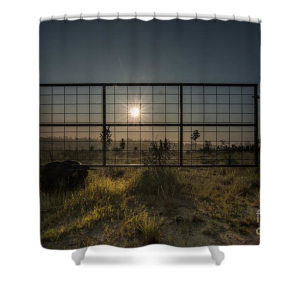 The Sun Is Free Shower Curtain
