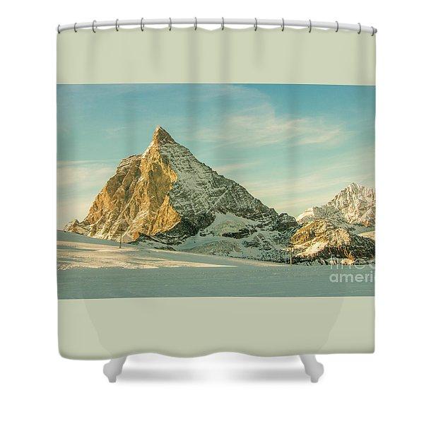 The Sun Sets Over The Matterhorn Shower Curtain