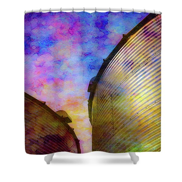 The Sun Sets The Stars Appear 4358 Idp_2 Shower Curtain