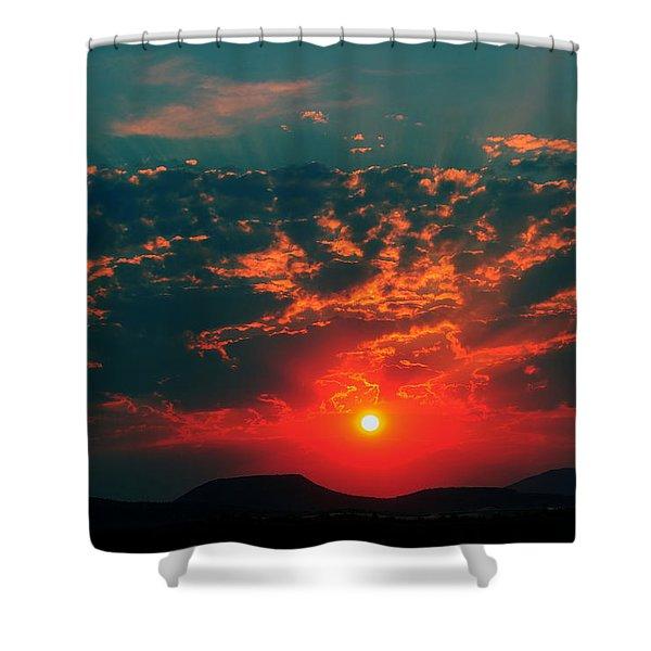The Sun Shines Shower Curtain