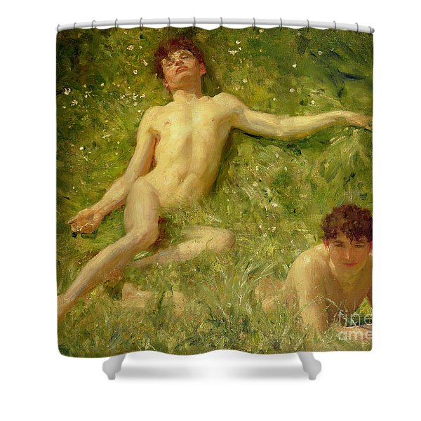 The Sunbathers Shower Curtain
