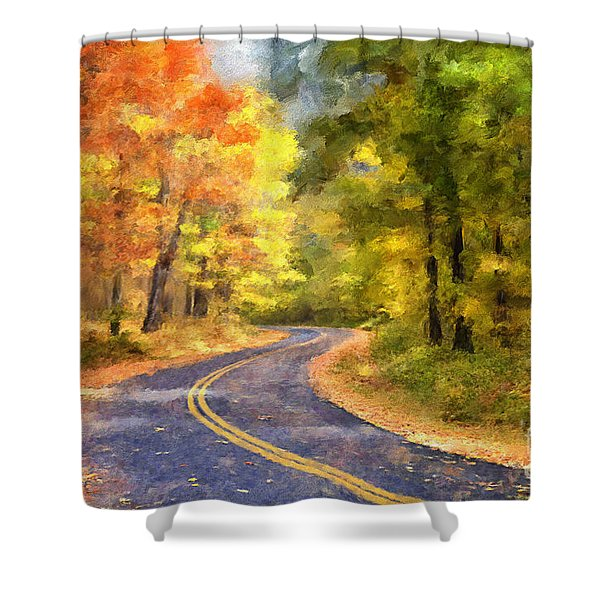 The Sunny Side Of The Street Shower Curtain