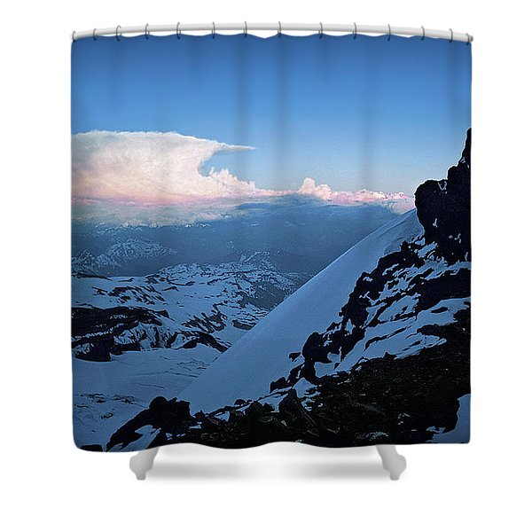 The Sunset Wave Shower Curtain