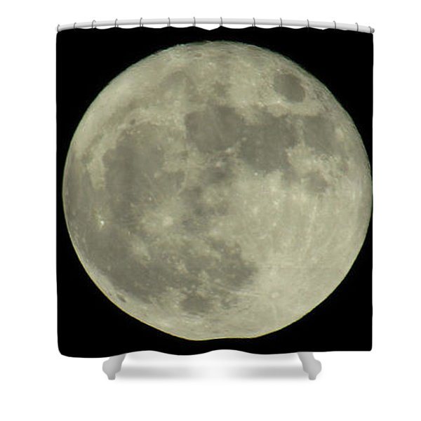 The Super Moon 3 Shower Curtain