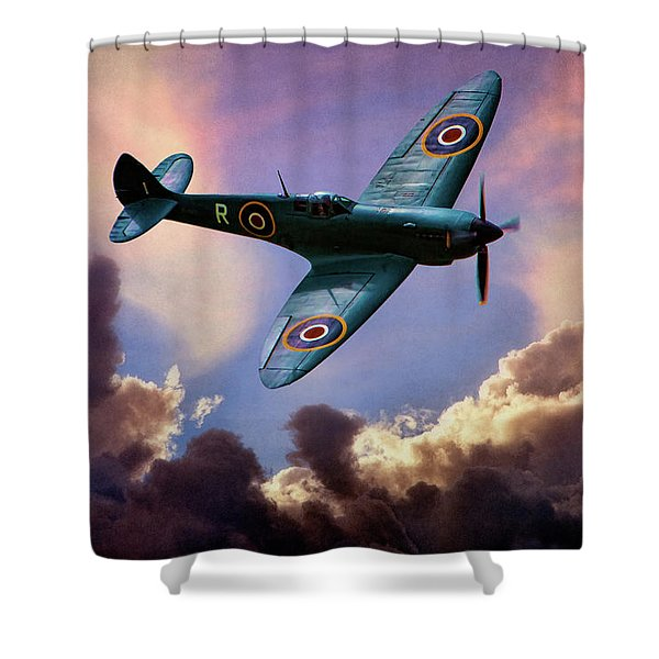 The Supermarine Spitfire Shower Curtain