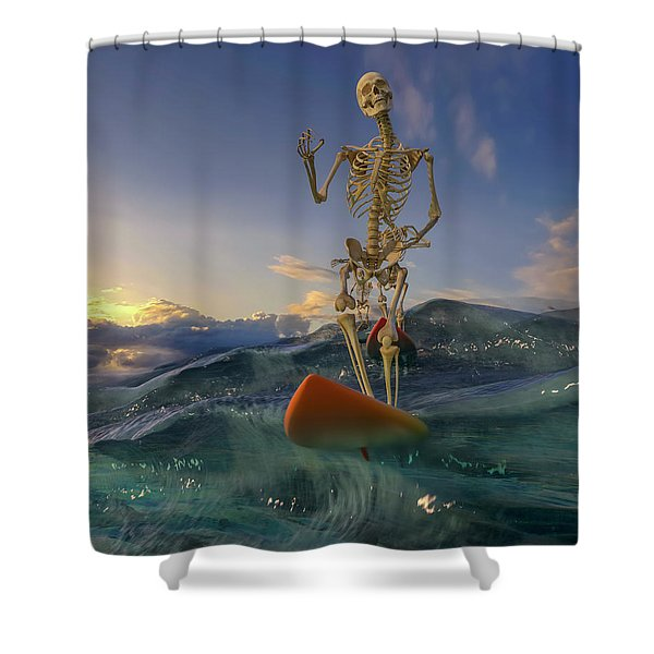 The Surfers Shower Curtain