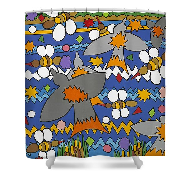 The Swallows Shower Curtain