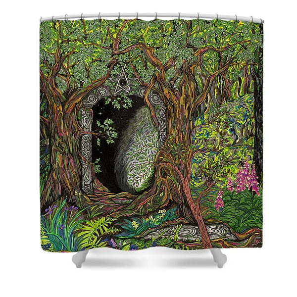 The Temple Of Math Shower Curtain