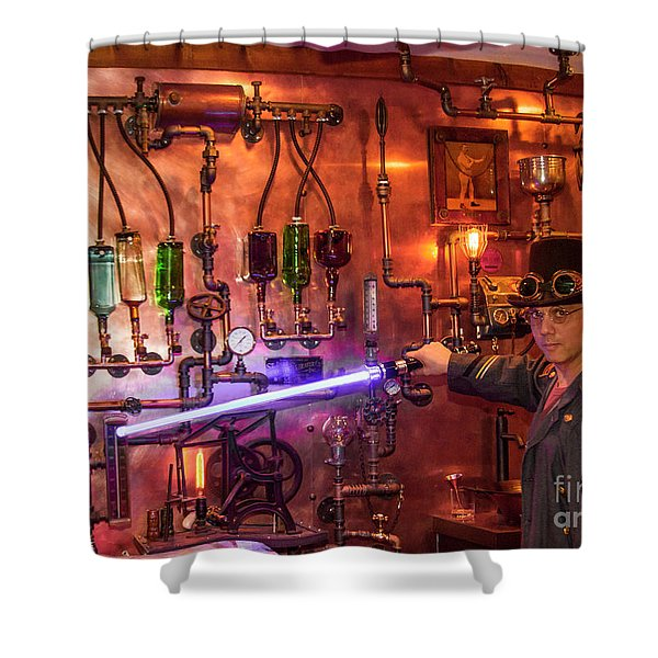 The Tender 2 Steampunk Interior Design 7 Atlanta Man-cave Art Shower Curtain