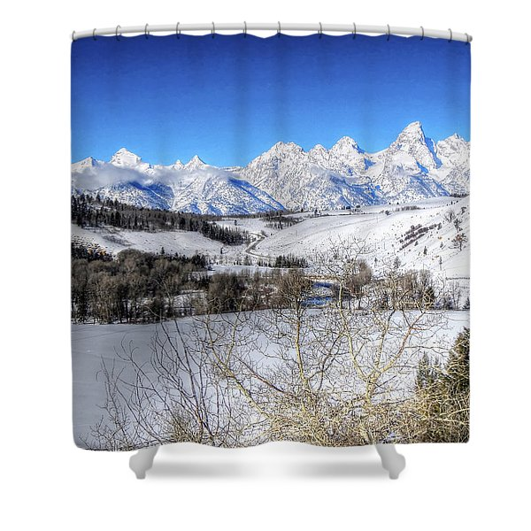 The Tetons From Gros Ventre Valley Shower Curtain