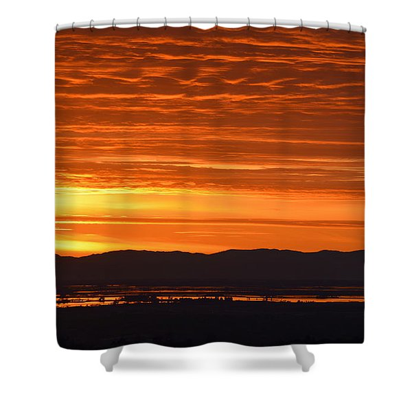 The Textured Sky Shower Curtain