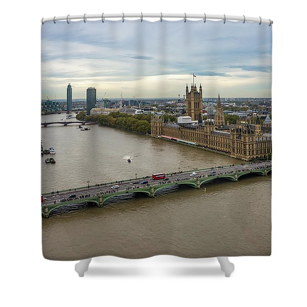 The Thames At Sunset Shower Curtain