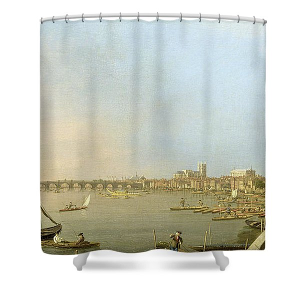 The Thames From The Terrace Of Somerset House Shower Curtain