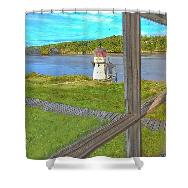 The Thin Line Between Real And Imagined Shower Curtain