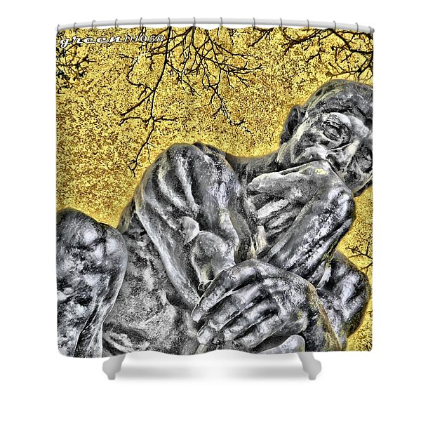 The Thinker - Study #1 Shower Curtain