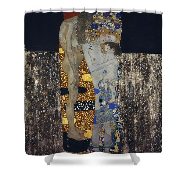 The Three Ages Of Woman Gustav Klimt Shower Curtain