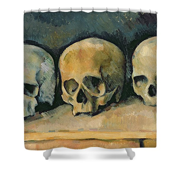 The Three Skulls Shower Curtain