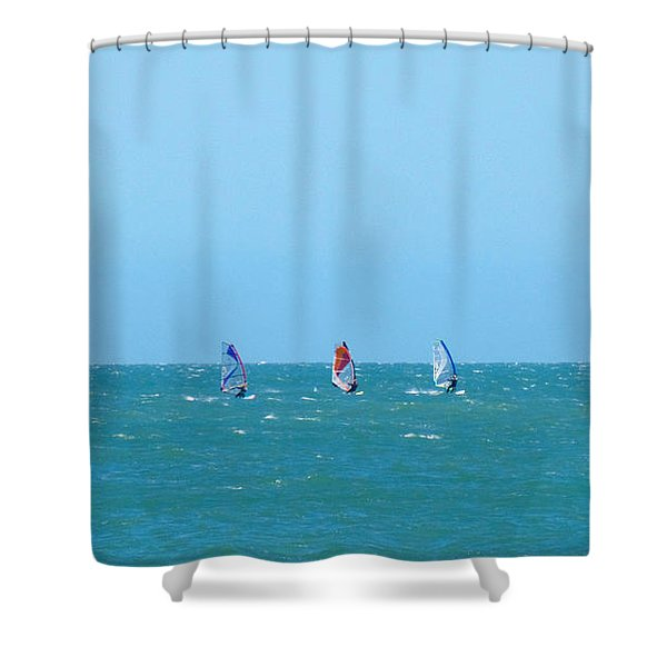 The Three Surfers Shower Curtain