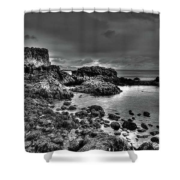 The Tide Pools At Hellnar At Low Tid Shower Curtain