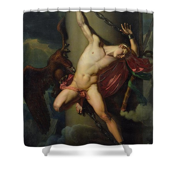 The Torture Of Prometheus Shower Curtain