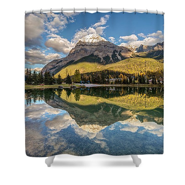The Town Of Field In British Columbia Shower Curtain