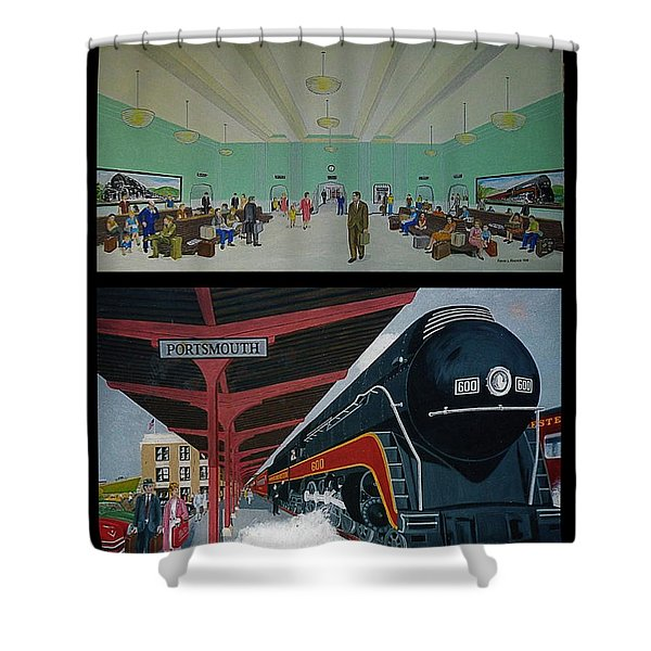 The Train Station At Portsmouth Ohio Shower Curtain
