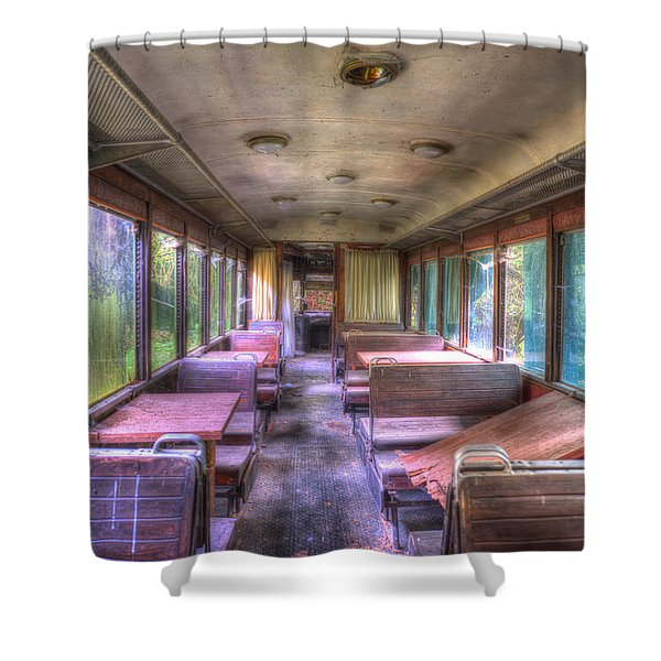 The Tram Leaves The Station... Inside Shower Curtain
