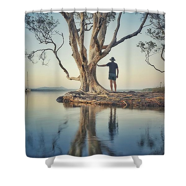 The Tree And Me Shower Curtain