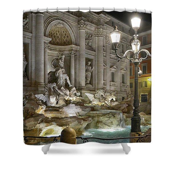 The Trevi Fountain Shower Curtain