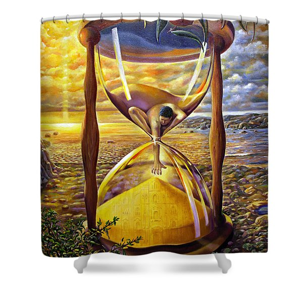 The Trial Of Time Shower Curtain
