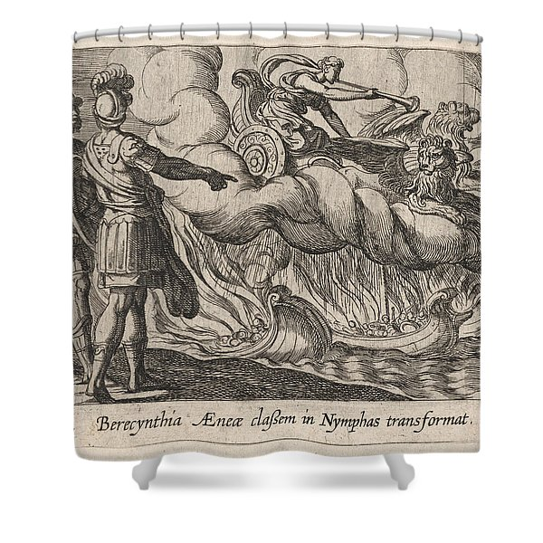 The Trojan Ships Changed Into Nymphs Shower Curtain