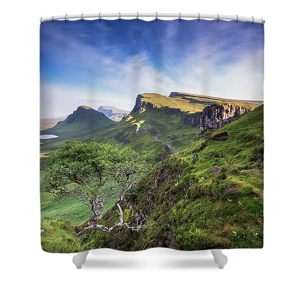 The Trotternish Tree Shower Curtain