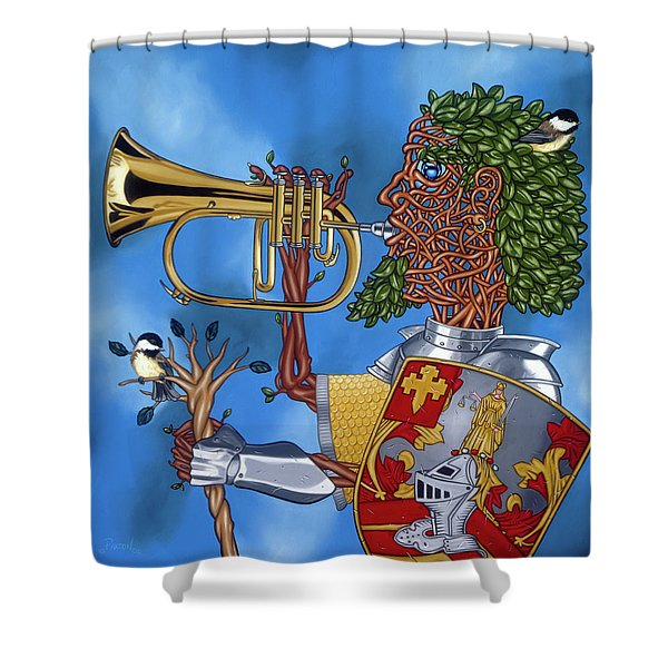 The Trumpiter Shower Curtain