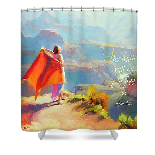 The Truth Will Set You Free Shower Curtain