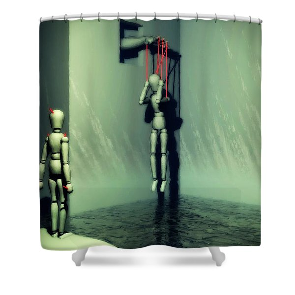 The Truthsayer Meets Denial Shower Curtain