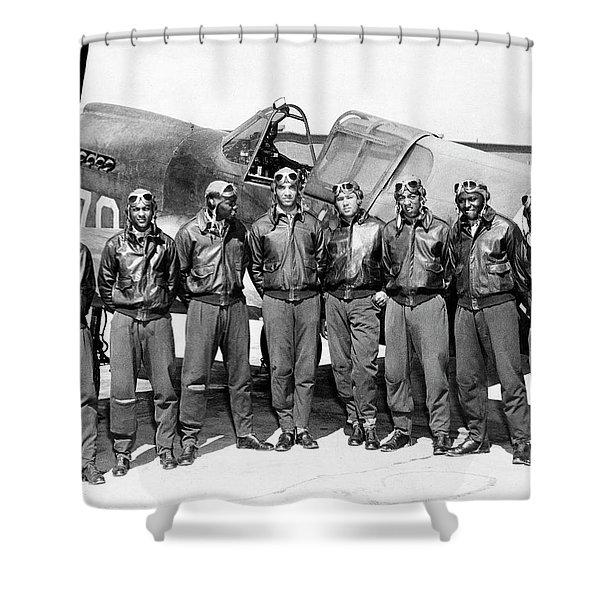 The Tuskegee Airmen Circa 1943 Shower Curtain