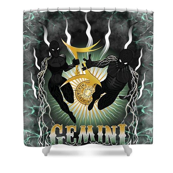 The Twins Gemini Spirits Shower Curtain
