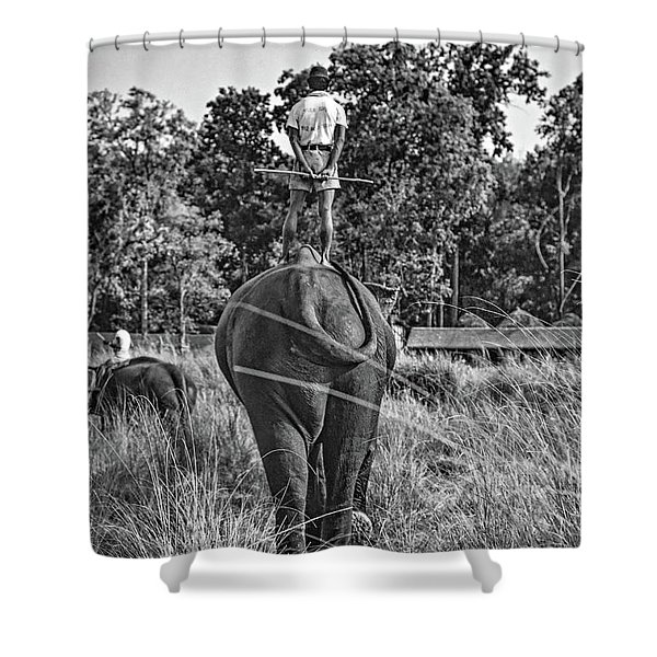 The Ultimate Bareback Ride Bw Shower Curtain