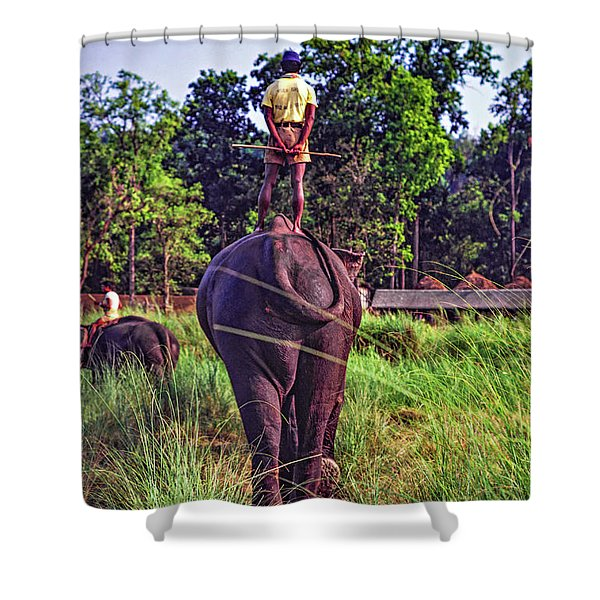 The Ultimate Bareback Ride Shower Curtain