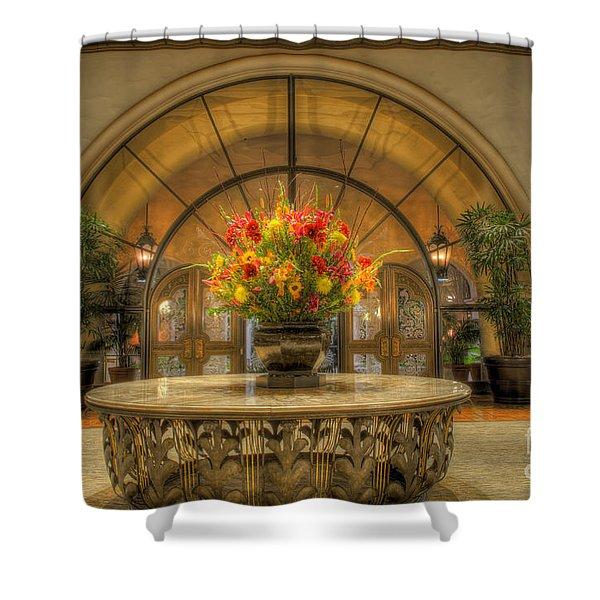 The Uncentered Centerpiece Shower Curtain